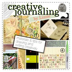 """""""creative journaling"""" by hipstertipsters ❤ liked on Polyvore featuring art, tips, journaling and sketchbooks"""