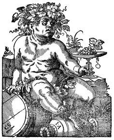Amman, Jost (1539-1591) - Bacchus, Holzschnitt