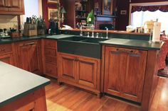 Attractive High End Custom Kitchen Cabinets   DR Dimes American Cabinetry There Is My  Sink!