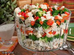 Looking to impress this Memorial Day? This layered potluck recipe for Stacked Pasta Salad makes for an impressive addition to any spread.