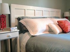 Learn how to make this classic-style headboard. Its uncomplicated design makes it a perfect project for a beginner DIYer. From the experts at DIYNetwork.com.