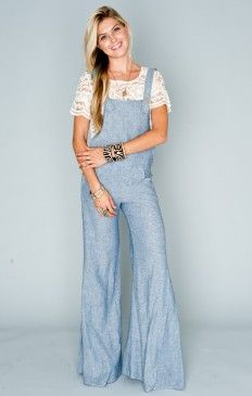 BILLY BOB OVERALLS ~ WASHED CHAMBRAY
