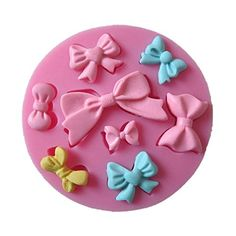 AllforhomeTM 8 cavity Mini Bows Silicone Mould Fondant Sugar Bow Craft Molds DIY Cake Decorating * Check out the image by visiting the link.(It is an affiliate link and I receive commission through sales)