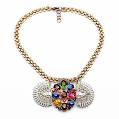 Shiny Candy Color Rhinestone Women's Fashion Necklace
