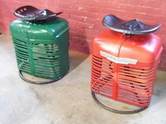 Farmall Tractor Stool - Wow! Look at these cool stools. I've never seen anything like these before.