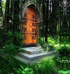 Portal, The Magic Forest photo-manipulation via carolyn I need to find this door! Another A, Another World, Magic Forest, Forest Fairy, Mystique, Before Us, Doorway, Photo Manipulation, Pathways