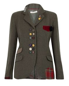 mixed buttons and patches = a plain jacket to an awesome jacket