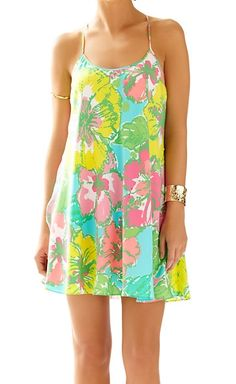 2477e5e7384f Lilly Pulitzer Maisy Strappy Racerback Slip Dress in Shorely Blue Big Flirt  Resort Dresses