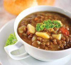Chana Masala, Chili, Ethnic Recipes, Soups, Vegetarian Recipes, Carmelized Onions, Caldo De Pollo, Potato, Healthy Cooking Recipes