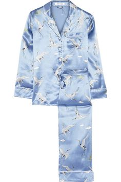 Olivia von Halle Lila Printed Silk-Satin Pajama Set, $525; net-a-porter.com How soon can I get them? Order by 10AM in select cities and you can get your PJs the same exact day.