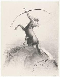 Centaur richt op de hemel, 1895, Odilon Redon