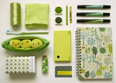 Love the coordinated color palette and how can you resist those little peas-in-a-pod?found on Things Organized Neatly: