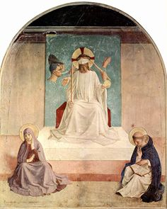Fresco, Resurrection of Christ and the Women at the Tomb Fra Angelico, 1440 Convent of San Marco, Florence in the late 15th century.