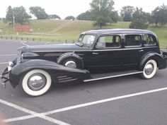 1937 V16 Cadillac. It was owned by President John F. Kennedy's dad