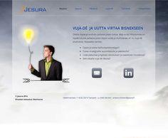 Projektina: Kotisivut avaimet käteen.  http://www.jesura.fi/