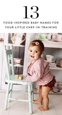 Perfect for aspiring chefs, these food-inspired baby names had us at food.