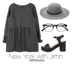 """New York with Jimin"" by btsoutfits ❤ liked on Polyvore featuring Ashley Stewart and American Apparel"