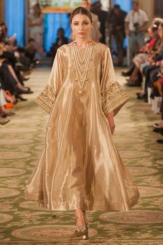 Pakistan Fashion Week London - Destination Lancaster - tissue embroidered Anarkali
