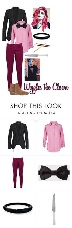 """KickthePJ // Wiggles the Clown"" by somenormalpanda ❤ liked on Polyvore featuring Ann Demeulemeester, Velvet by Graham & Spencer, Great Plains, Paul Smith, Alexis Bittar, Ercuis and Michael Kors"