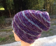 Slouch knit beanie by RusticValley on Etsy