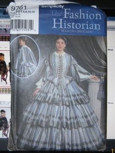 OUT OF PRINT - Simplicity 4400 - 1860s day dress pattern - SEARCH