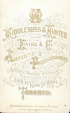 Middlemiss & Hunter of Toronto, ON - Young Man - CDV - back by snap-happy1, via Flickr