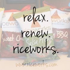 Take a minute to relax with your favorite riceworks crisps! #glutenfree #yum #snacks