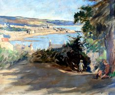 STANHOPE ALEXANDER FORBES On Paul Hill, a sketch (1922) Oil on canvas Sold for £8,000