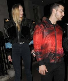 Sophie Turner And Joe Jonas leaving 34 Restaurant In London cdc8aab8a2f
