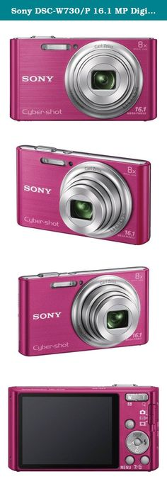 Sony DSC-W730/P 16.1 MP Digital Camera with 2.7-Inch LCD (Pink). It's the amazingly easy-to-use camera that slips right in your pocket-with an 8x optical zoom, 16.1MP photos and beautifully-detailed HD videos. And pics stay clearer, even with shaky hands thanks to Optical SteadyShot image stabilization. You can also enhance your images with built-in effects that adjust skin tone and texture or even whiten teeth.