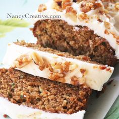 Carrot zucchini bread with cream cheese frosting