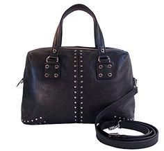 Michael Kors Astor Studded Leather Large Satchel, Black  Sale Price: $269.99 You Save: $98.01 (27%) off List Price: $368.00