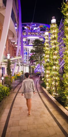 Harmony of the Seas | A perfect evening stroll. Harmony of the Seas's Central Park is expertly landscaped by four onboard horticulturists that maintain over 12,000 plants spanning an area larger a regulation football field.