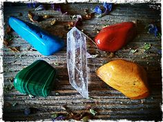 The Elemental Set - Earth, Air, Fire, Water, Spirit. Connect with the earths elements.  http://www.livingearthcrystals.com