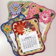 Etsy - Mini 2013 CALENDAR - fridge magnet - easel back - desk calendar -