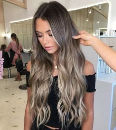Pin by SunnyWigs on TOP 2018 Flattering Hairstyles in 2019 - bargain-top . - Pin by SunnyWigs on TOP 2018 Flattering Hairstyles in 2019 – bargain top trends … – Pin by Su - Brown Hair With Blonde Balayage, Brown Ombre Hair, Ombre Hair Color, Hair Color Balayage, Hair Highlights, Icy Blonde, Balayage Long Hair, Long Ombre Hair, Long Brown Hair