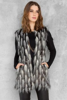Easton Faux Fur Vest