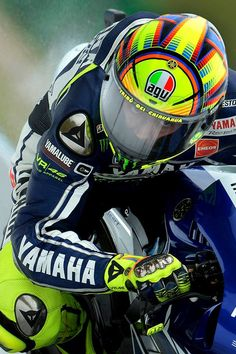 Valentino Rossi.  Oh, that look in his eyes o.o
