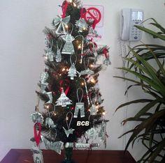 Money Origami Christmas Tree Ornaments