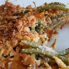 """Grandma's Green Bean Casserole   """"This recipe is much better than the standard mushroom soup and French fried onion version."""""""