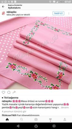 Table Runners, Diy And Crafts, Embroidery, Sewing, Modeling, Scrappy Quilts, Table Toppers, Needlepoint, Dressmaking