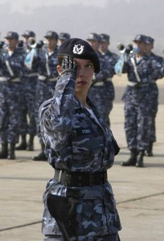 Female soldier in the Chilean army.