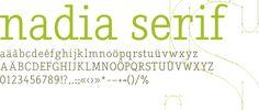 Nadia Serif- free font