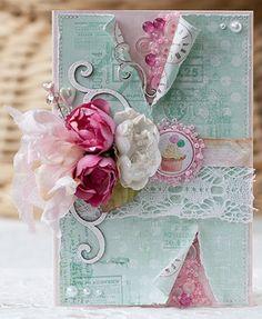 Бохо - for FabScraps Handmade Card Making, Handmade Birthday Cards, Paper Cards, Diy Cards, Cupcake Card, Cupcake Crafts, Card Making Designs, Card Designs, Card Creator