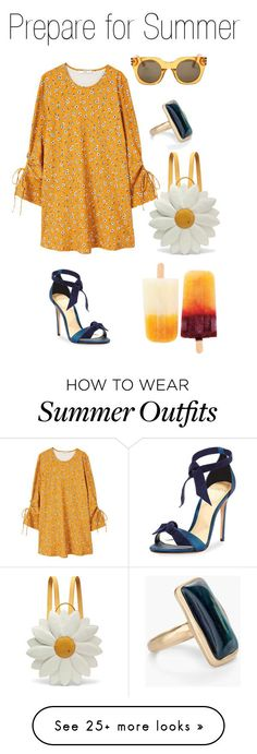 """Collection Of Summer Styles    """"Summer Outfit"""" by frederikkefh on Polyvore featuring MANGO, Alexandre Birman, Chico's, Marc Jacobs and Charlotte Olympia    - #Outfits  https://fashioninspire.net/fashion/outfits/summer-outfits-summer-outfit-by-frederikkefh-on-polyvore-featuring-mango-alexandre-birman-c/"""