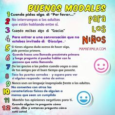 modales buenos para niños cortesia Preschool Lessons, Activities For Kids, Preschool Learning, Kids And Parenting, Parenting Hacks, Etiquette And Manners, Mindfulness For Kids, Happy Mom, Teacher Tools