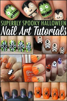 Superbly Spooky Halloween Nail Art Tutorials