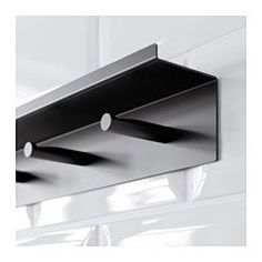 IKEA - FALSTERBO, Wall rail with hooks, The hardware of the wall shelf is concealed by placing the hooks on top.The hook has a groove to prevent items from sliding off.If you need more hooks, just place as many wall shelves as you need next to each other.This wall shelf has a ledge prevent whatever you place on it from sliding off.