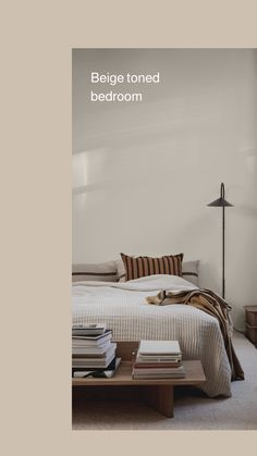 SS20 Ferm Living - Embracing the concept of low living - Hege in France #bedroominspo #scandinavianliving #beigeaesthetics  Beige Toned Bedroom with Black accents.