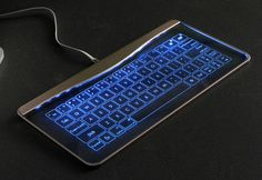 This superslim device is a keyboard, mouse and touch-sensitive gesture controller in one. Made of sleek aluminum alloy and tempered glass